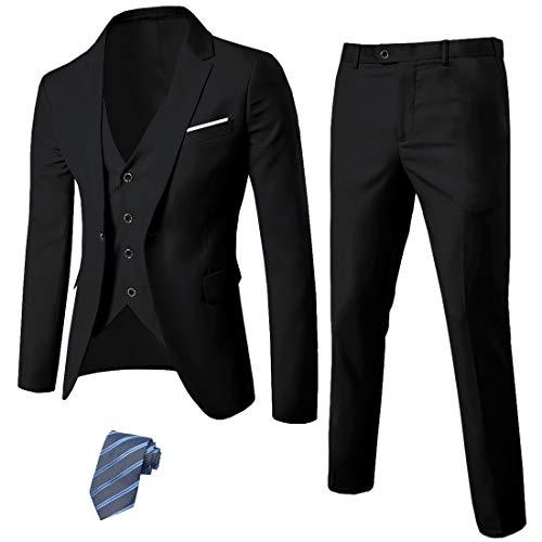MY'S Men's 3 Piece Slim Fit Suit Set