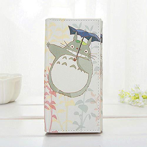 ZHOUBIN Geldbörse Anime Mein Nachbar Totoro Long PU Button Farbe Manga brieftasch münzfach Kreditkarte ausweis kartenhüllen Geldtasche Wallet Brieftasche portmonee