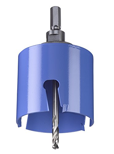 kwb Universal-Lochsäge – 75 mm Durchmesser-Größe, extra scharfe Zähne aus Hartmetall, 8 mm Zentrierbohrer