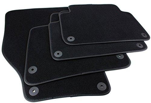 Kfzpremiumteile24 Fußmatten Velours Kompatibel mit Q7 4L Baujahr 2006-05/2015 Automatten Premium Qualität Stoffmatten Schwarz 4-teilig
