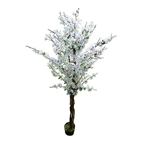 5' Artificial Tree - White Artificial Blossom Tree - 1.7m Artificial Plant In A Pot