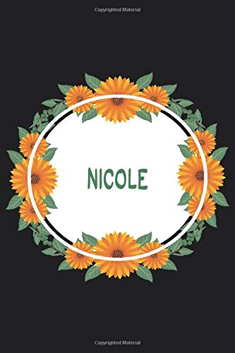 Nicole: Personalized Notebook | Nicole's Personal Writing Journal | Blank lined notebook | Note Taking for Nicole