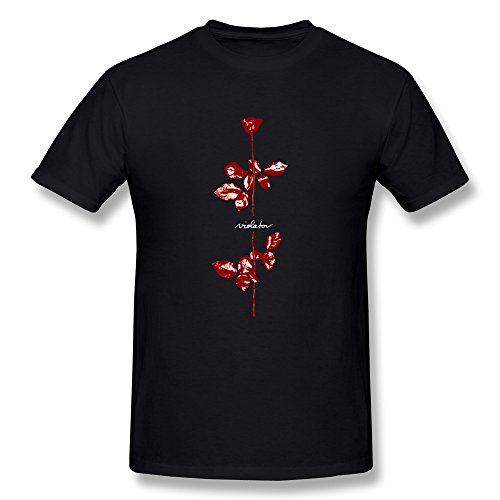 Night spread Depeche Mode Violator Album Cover Men's T-Shirt,Black