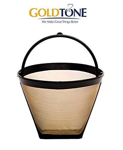 GoldTone Reusable 4 Cup No.2 Cone Coffee Filter No.2 Cone Permanent Coffee Filter - fits MOST Cuisinart, Krups, and other No.2 Cone Coffee Makers