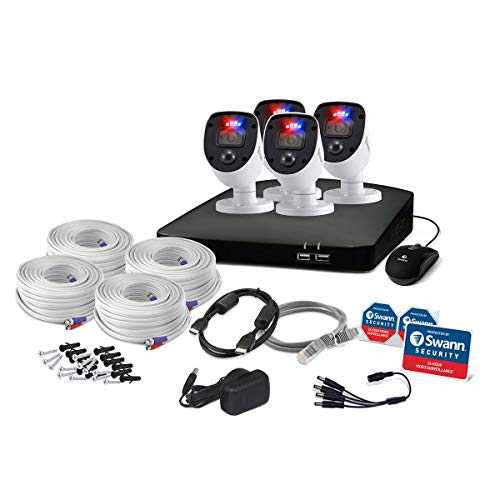 Swann DVR-4680 8-Channel Full HD 1TB Security System with 4X PRO-1080SL Enforcer 'Police-Style' Flashing Light Cameras
