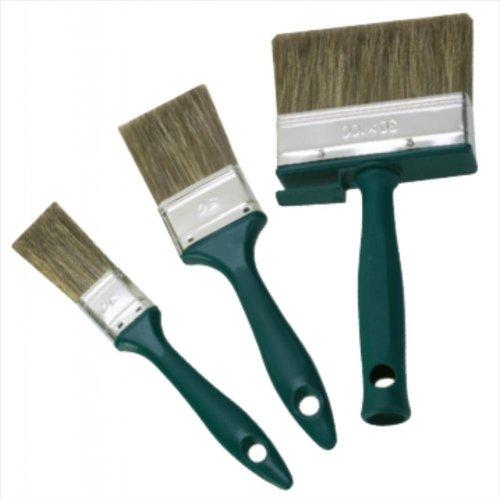 Lasur-Pinsel-Set 3-TLG. Flachpinsel 30 mm, 50 mm, Fläch