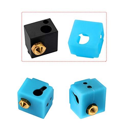 Faeel 3D Printer MK7 MK8 MK9 Hotend Heater Protect Heater Block Silicone Cover Silicone Sock for CR-10 Mini S4/ S5/ Anet A8/ Ender 3/ Tevo Tornado 4 Pcs