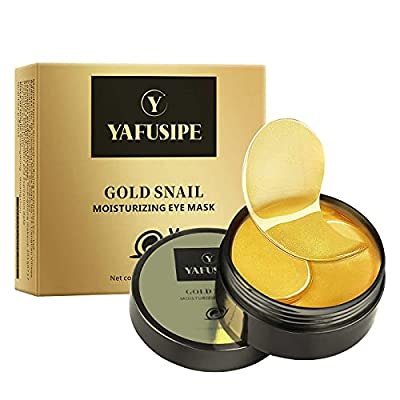 Eye Masks for Dark Circle Puffiness Dry 24k Gold Eye Mask Puffy Eyes Undereye Patches Treatment 60 Pieces Collagen Eye Gel Mask Woman Men Hydrating Under Eye Mask Reduce Wrinkle Fine Line Revitalize
