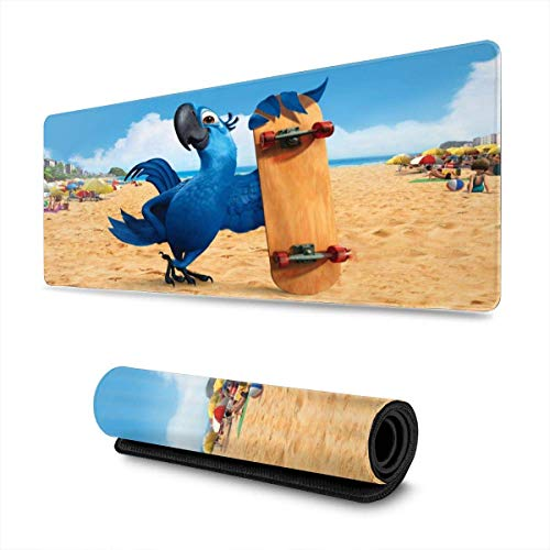 Mausepad Rio Cartoon Blu Skateboard Printed Non-Slip Custom Mousepad Computer Rubber 80X30Cm Dormitory Gaming Dedicated Student Non-Slip Large Rectangle Mouse Pad Home ColorfulT