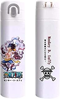 Kroy Pecoed Japonés Anime Acero Inoxidable Aislado Taza, Cartoon One Piece/Demon Asesina/Naruto Vacío Taza Aislante Doble Pared Gotera Prueba Sports Agua Botella Regalo para Anime Ventiladores
