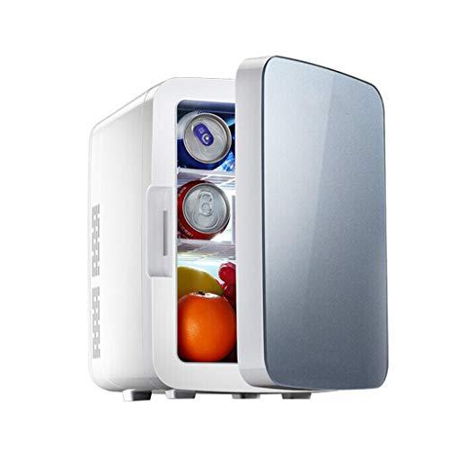 Carro pequeño de 10 litros con Mini refrigerador, calefacción y Caja de refrigeración Dormitorio para el hogar, Doble Uso, Gris