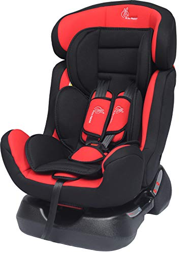 R for Rabbit Convertible Baby Car Seat Jack N Jill Grand Innovative ECE R44/04 Safety Certified Car Seat for Kids of 0 to 7 Years Age with 3 Recline Position (Red Black)