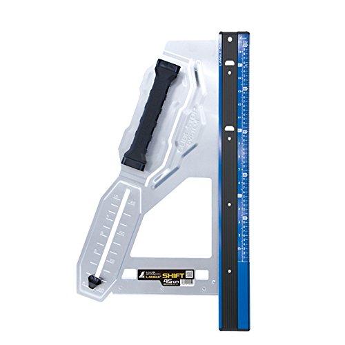 シンワ測定(Shinwa Sokutei) 丸ノコガイド定規 エルアングルPlus シフト 45cm 寸勾配切断機能付 79052