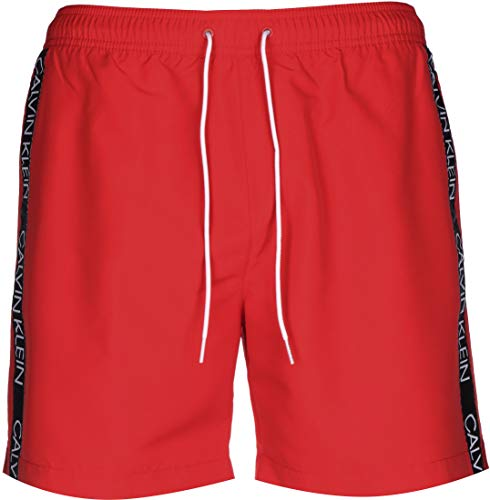 Calvin Klein Herren Medium Drawstring Badehose, Rot (High Risk XBG), Large