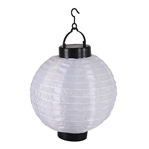 Homea 5ECL017BC Lanterne Chinoise Solaire, Plastique, Blanc