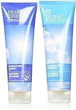 Desert Essence Fragrance Free Shampoo & Conditioner Bundle - 8 Fl Ounce - Pure - Vitamin B5 - Green Tea - Softer, Shinier & More Manageable - Aloe Vera - Unscented