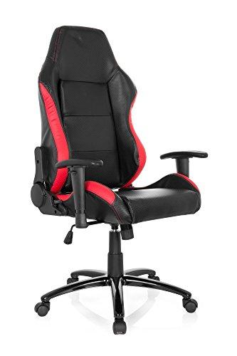 Hjh Office Maranello II Silla de oficina Multicolor (Black/Red) 49x48x123 cm