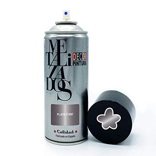 Pintura Spray METALIZADA Plateada Celeste 400ml imprimacion para madera, metal, ceramica, plasticos / Pinta Radiadores, bicicleta, coche, plasticos, microondas, graffiti