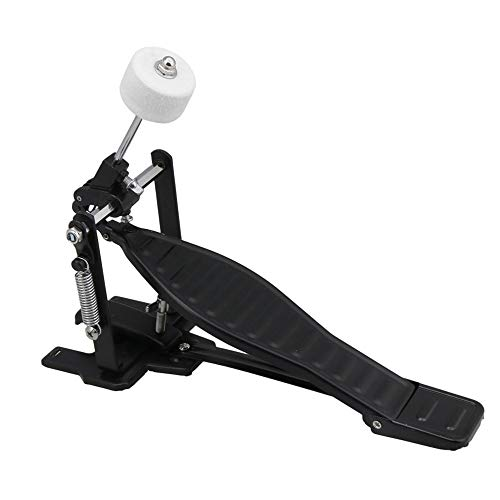 BQLZR Schwarzes Aluminiumlegierungs-Schlaginstrument-Trommel-Pedal und Trommelstock-Satz mit linker Feder für Kindergestell-Trommel-Reparatursatz