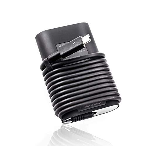 HotTopStar - Cargador USB tipo C de 45 W, adaptador de cable de alimentación CA compatible con Dell XPS 11, XPS 12, XPS 13, 9360, 9370, 9333, Ordenador portátil Inspiron 14 7437, 332-1827 Latitude