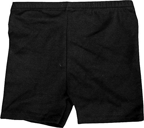 Pantalones cortos de Uniforme escolar, algodón, para gimnasia, niña Niño, negro, mediano