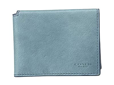 COACH Men's Trifold ID Wallet in Hand Dyed Sport Calf Denim One Size