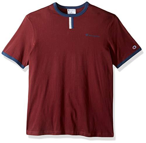 Champion Herren YC Tee T-Shirt, Kastanien/Oxford-Grau/Imperial Indigo, Klein