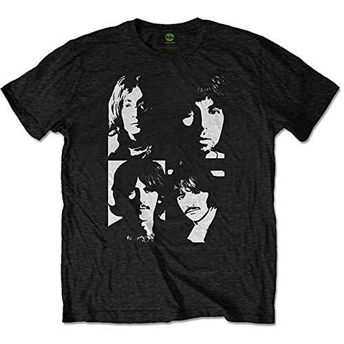 The Beatles In The USSR (Back Print) Camiseta, Negro (Black Black), Large para Hombre