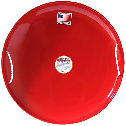 Flexible Flyer Steel Saucer, Red, 26 x 26 x 4 inches (826)
