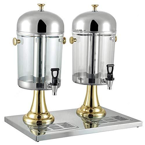 Zjcpow Dispensador de Bebidas Frías 16L Jugo máquina Profesional de la Leche té Barril Bebida fría máquina de Acero Inoxidable de Hielo y se calienta Maquina expendedora