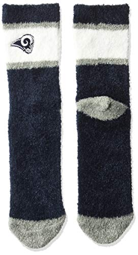 OTS NFL Los Angeles Rams Women's Diggory Fuzzy Half Crew Sock, Team Color, Medium