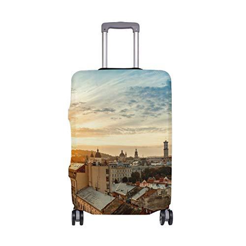 Waschbar (L für 26-28-Zoll-Gepäck) Reisegepäck mit Kratzschutz Gepäck Sonnenaufgänge Sonnenuntergänge Dachkoffer-Schutz