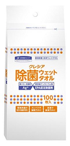 日本製紙クレシア クレシア 除菌ウェットタオル 詰替用 100枚入 [1450]