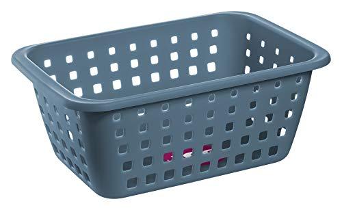Cesto Organizador Plástico com volume de 5,2L Litros, Cor Azul, Linha Log