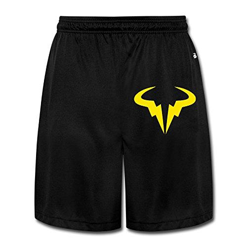 MGTER66 Men's Rafael Nadal Tennis Player Logo Short Running Pants Size 3X Black