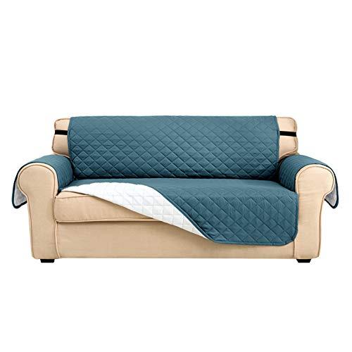 Fundas de sofá, fundas de sofá, fundas de sofá, fundas para perros, protectores de sofá para perros/mascotas y niños, resistente al agua suave gruesa con hebilla (verde azulado, 4 plazas)