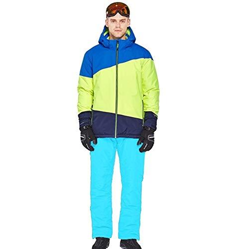 JSYDTX Herrenberge wasserdichte Ski-Schnee-Winter-Jacke windundurchlässiger Regen Anzug Hoodie Fleecejacken Overalls Männerkleidung Sport Snowboard Man Kleidung Sets Outdoorhose