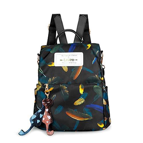 Leviro Women Backpack Waterproof Nylon Anti-theft Rucksack School Shoulder Bag Camo Handbag (camo-5)