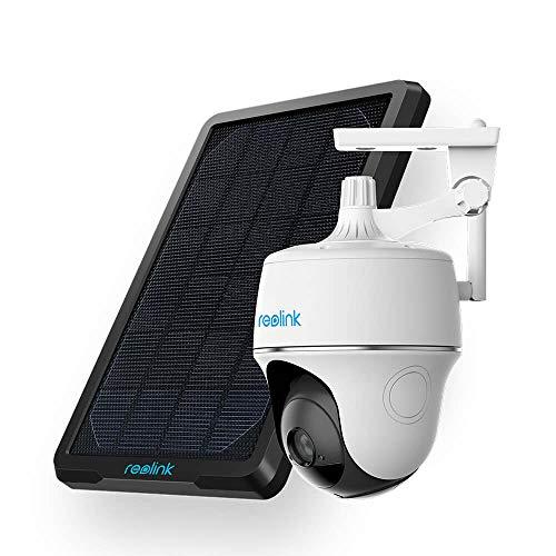 Reolink Überwachungskamera akku aussen wlan schwenkbar mit Solarpanel, 1080p FHD WLAN Kamera Outdoor mit Batterie, Pan Tilt, 2.4GHz WiFi, PIR Bewegungsmelder, 2-Wege-Audio und SD Kartenslot
