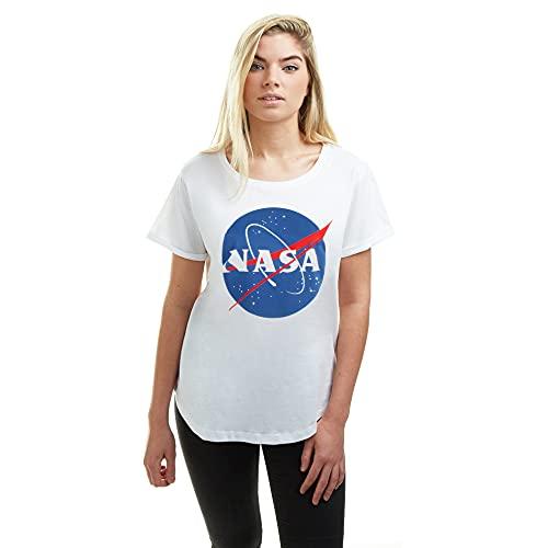 Nasa Circle Logo Camiseta, Blanco (White...