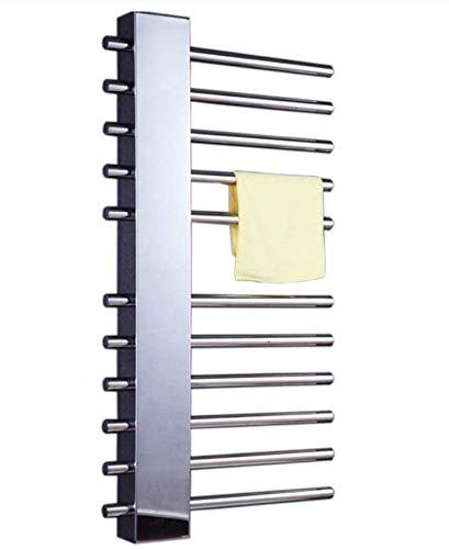 Wlylyhjy - Toallero eléctrico de acero inoxidable con espejo pulido