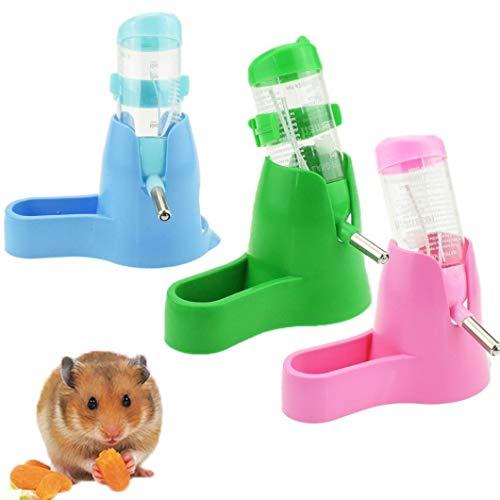 Vektenxi80ML 3 in 1 Hamster Wasserflasche, Kaninchen Wasserspender Mit Boden, Kleintier Wasserspender Grün Sehr praktisch