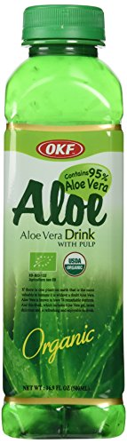 Trader Joe's Aloe Vera Drink with Pulp, 4 bottles, each 16.9 oz bottles, Organic