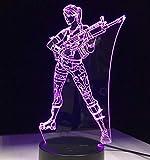 YAX Nachtlicht Nachtlampe Mit Einem Controller Spiel 3D Led Lampe 7 Farben Touch Switch Tisch Schreibtisch Licht Lava Lampe Acryl Illusion Raum Atmosphäre Beleuchtung Fans Geschen