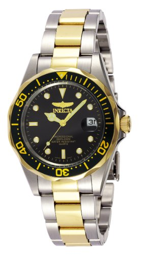 Invicta Men's 8934 'Pro-Diver Collection' Two-Tone Stainless Steel Watch, Silver-Tone/Black