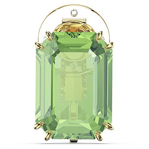 Swarovski Orecchino a Clip Millenia, Singolo, Verde, Placcato Color Oro