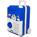 Lalli Sales Money Safe Kids Piggy Savings Bank with Electronic Lock (Blue)
