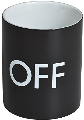 VENKON - Jarra sensible al calor Taza Mágica Termosensible con efecto térmico - diseño: On / Off - para el café, té, cacao, leche, agua, etc - 0.3l