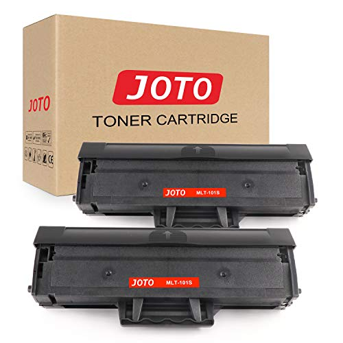JOTO MLT-D101S D101S/ELS Kompatibel für Samsung MLTD101S D101S Toner,for Samsung ML-2165W SF760P SCX3405W SCX3405FW SCX3405F SCX3405 ML2160 ML-2165 ML-2161 SCX3400F(2 Schwarz)