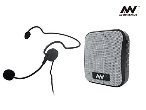 飛沫拡散防止対策にハンズフリー ポータブル拡声器 MP3フォーマットでUSBメモリ、Micro SDカードに録音可能、リチウムイオンバッテリー内蔵 FMラジオ受信 MM-SPAMP2 AUDIO NEXSUS AN-178W
